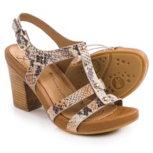 Sofft Deidra Sandals - Leather (For Women) in Tan Snake Print - Closeouts