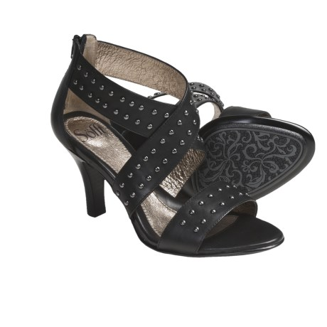 Sofft Gaea Heels - Studded Leather (For Women) in Black