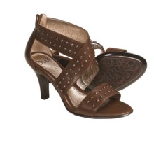 Sofft Gaea Heels - Studded Leather (For Women) in Tobacco - Closeouts