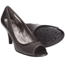 Sofft Gemini Pumps - Leather, Peep Toe (For Women) in Grey - Closeouts