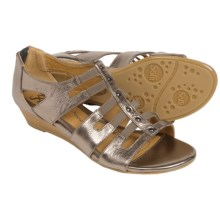 Sofft Ilana Leather Sandals - Wedge Heel (For Women) in Anthracite - Closeouts