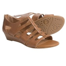 Sofft Ilana Leather Sandals - Wedge Heel (For Women) in Luggage - Closeouts