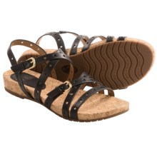 Sofft Malana Leather Sandals (For Women) in Black - Closeouts