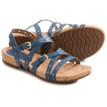 Sofft Malana Leather Sandals (For Women) in French Blue - Closeouts