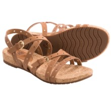Sofft Malana Leather Sandals (For Women) in Luggage - Closeouts