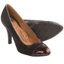 Sofft Marilla Shoes - Pumps (For Women) in Black Suede/Cinnamon Leopard - Closeouts