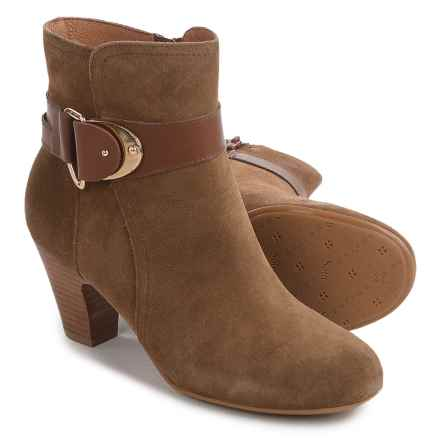 Sofft Nadra Ankle Boots - Leather (For Women) in Desert Tan/Carmel - Closeouts
