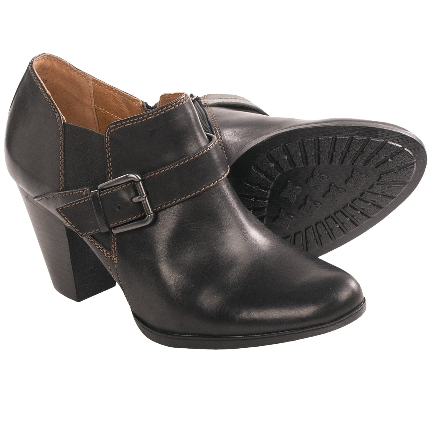 Sofft Nell Ankle Boots - Leather (For Women) in Black