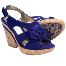 Sofft Odelle Wedge Sandals (For Women) in Ink Blue Suede - Closeouts
