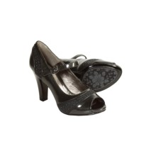 Sofft Raine Mary Jane Shoes - Patent Leather, Peep Toe (For Women) in Pewter - Closeouts