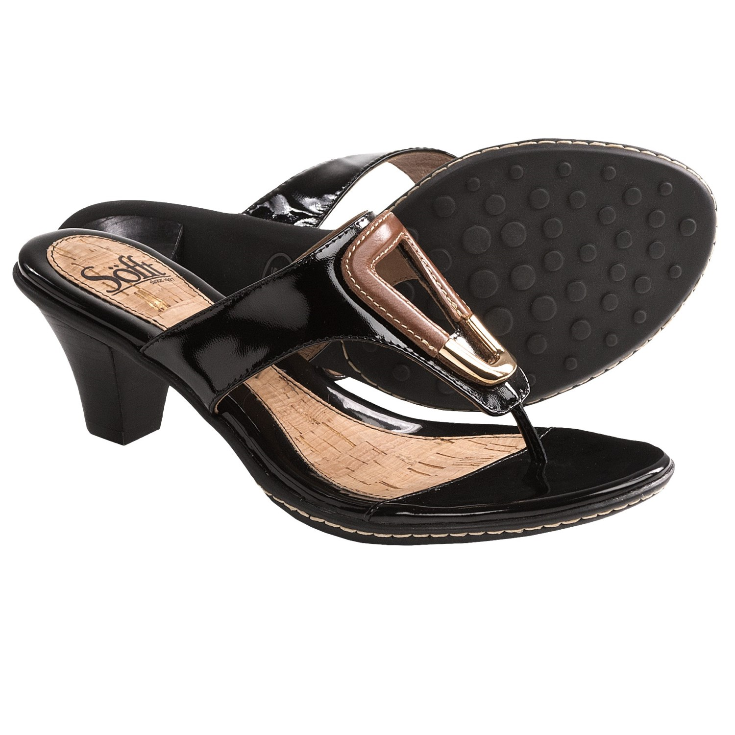 Sofft Raphaella Sandals - Patent Leather (For Women) in Black Patent