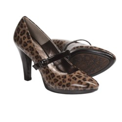 Sofft Rieta Mary Jane Platform Shoes - Leather (For Women) in Leopardino Patent
