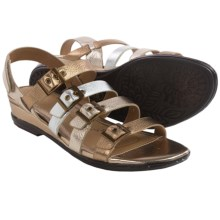 Sofft Sapphire Leather Sandals (For Women) in Metallic Multi - Closeouts