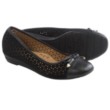 Sofft Selima II Ballet Flats - Leather (For Women) in Black Suede - Closeouts