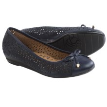 Sofft Selima II Ballet Flats - Leather (For Women) in Honor Blue Suede - Closeouts