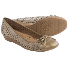 Sofft Selima II Ballet Flats - Leather (For Women) in Satin Gold - Closeouts