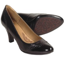 Sofft Seryn Pumps - Wingtip (For Women) in Dark Brown Leather - Closeouts