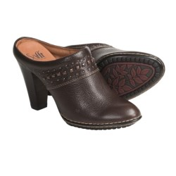 Sofft Soleil Clogs - Studded Leather (For Women) in Dark Brown