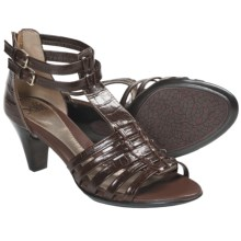 Sofft Soriana Gladiator Heels - Leather (For Women) in Cognac Croco - Closeouts