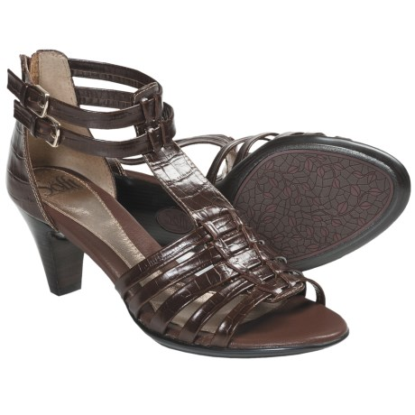 Sofft Soriana Gladiator Heels - Leather (For Women) in Cognac Croco