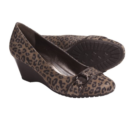 Sofft Torino Shoes - Leather, Wedge (For Women) in Leopard