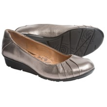 Sofft Vanna Leather Flats (For Women) in Anthracite - Closeouts