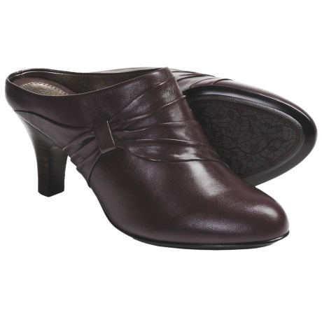 Sofft Varese Slide Shoes - Leather (For Women) in Coffee