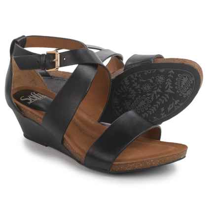 Sofft Vita Wedge Sandals (For Women) in Black - Closeouts