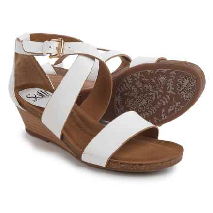Sofft Vita Wedge Sandals (For Women) in White - Closeouts