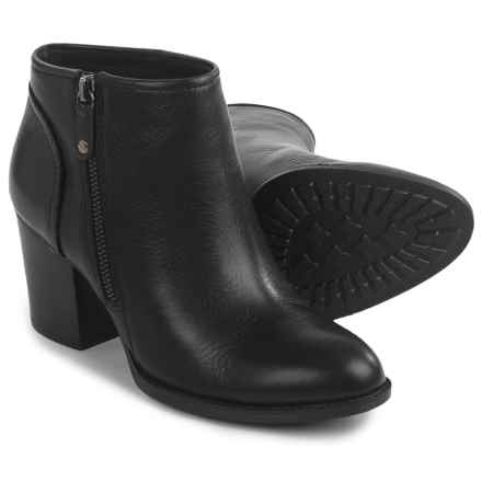 Sofft Wesley Ankle Boots - Leather, Side Zip (For Women) in Black - Closeouts