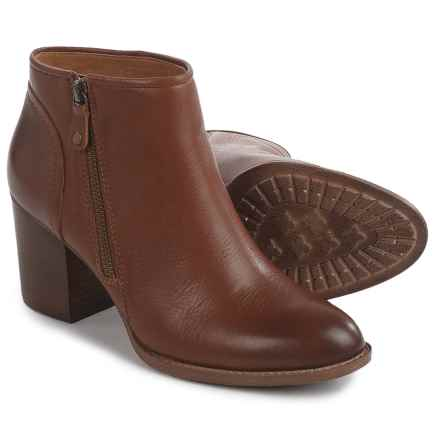 Sofft Wesley Ankle Boots - Leather, Side Zip (For Women) in Tan - Closeouts