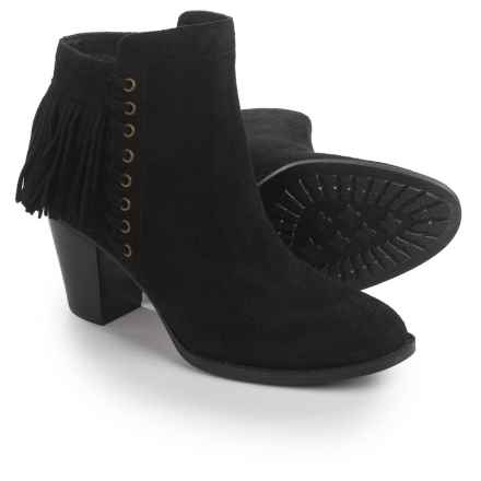 Sofft Winters Fringed Ankle Boots - Suede (For Women) in Black - Closeouts