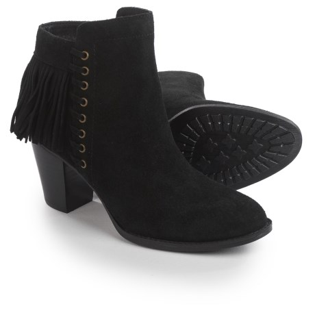 Sofft Winters Fringed Ankle Boots - Suede (For Women) in Black