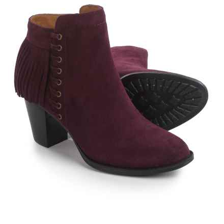 Sofft Winters Fringed Ankle Boots - Suede (For Women) in Bordo - Closeouts