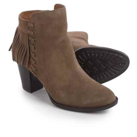 Sofft Winters Fringed Ankle Boots - Suede (For Women) in Havannah Brown - Closeouts