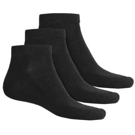 Sofsole All-Sport Socks - 3-Pack, Ankle (For Men) in Black - Closeouts