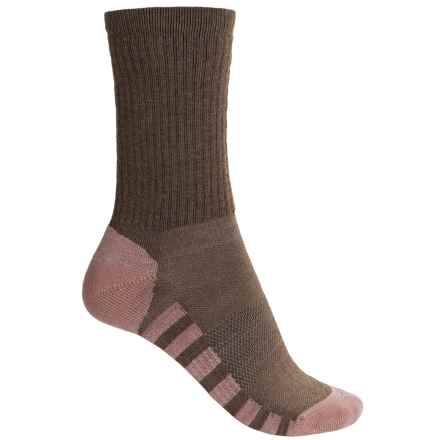Sofsole Fireside Explorer Socks - Crew (For Women) in Brown/Pink - Closeouts