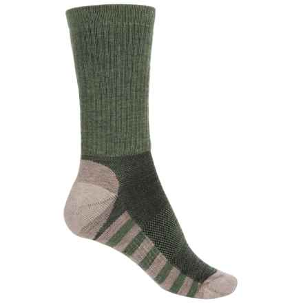 Sofsole Fireside Explorer Socks - Crew (For Women) in Green/Grey - Closeouts