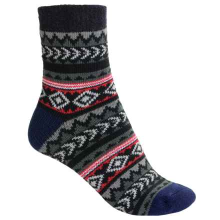 Sofsole Fireside Socks - Crew (For Men) in Tribal Black/Pink - Closeouts
