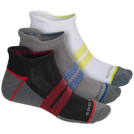 Sofsole Multi-Sport Tab Socks - 3-Pack, Below the Ankle (For Men) in Black/White/Grey - Closeouts