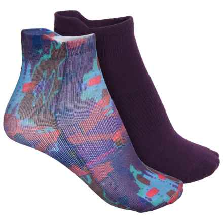 Sofsole Printed Sport Liner Socks - 2-Pack, Below the Ankle (For Women) in Ethnic - Closeouts