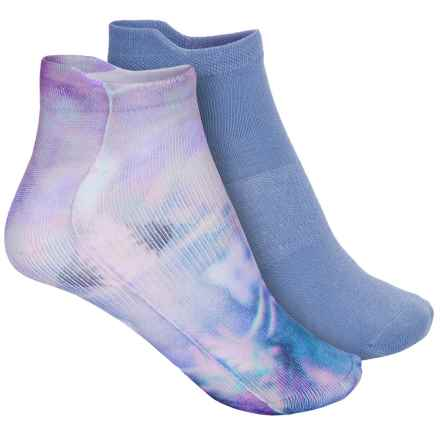 Sofsole Printed Sport Liner Socks - 2-Pack, Below the Ankle (For Women) in Floral - Closeouts