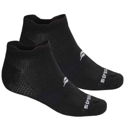 Sofsole Running Select Double-Tab Socks - 2-Pack, Below the Ankle (For Men) in Black - Closeouts