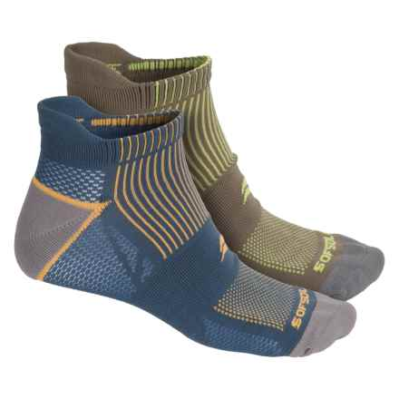 Sofsole Running Select Tab Socks - 2-Pack, Below the Ankle (For Men) in Blue/Orange - Closeouts