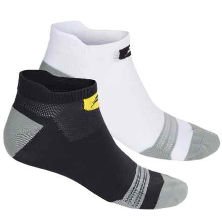 Sofsole Running Select Tab Socks - 2-Pack, Below the Ankle (For Men) in White/Grey - Closeouts