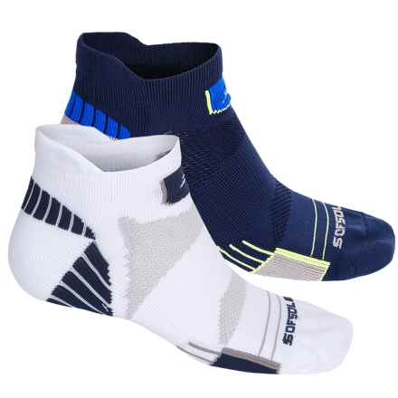 Sofsole Running Select Tab Socks - 2-Pack, Below the Ankle (For Men) in White/Indigo - Closeouts