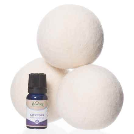 Soft by Nature Woolzies Dryer Balls - 3-Pack, Lavender Essential Oil in White - Closeouts