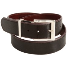 Soft Collection by Bill Lavin Italian Leather Belt - Reversible (For Men) in Black - Closeouts