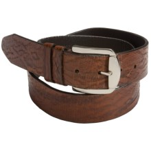 Soft Collection by Bill Lavin Multi Exotic Print Belt - Leather (For Men) in Toffee - Closeouts