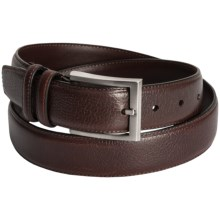 Soft Collection by Bill Lavin Tumbled Leather Belt (For Men) in Brown - Closeouts